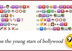 Guess the young stars of Bollywood from whatsapp emoticons