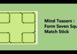 Mind-Teasers-Form-Seven-Squares-Match-Stick