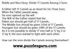 Divide-17-Camels-Among-3-Sons