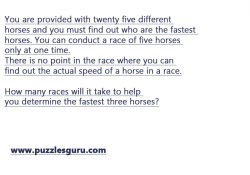 Fastest-Horse-Interview-Puzzle