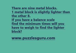 Find-The-Minimum-Times-Will-You-Have-To-Weigh-To-Find-The-Lighter-Block