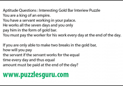 ApInteresting-Gold-Bar-Interiew-Puzzle
