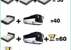 Bed-Bus-Trophy-Maths-Equation-Riddle